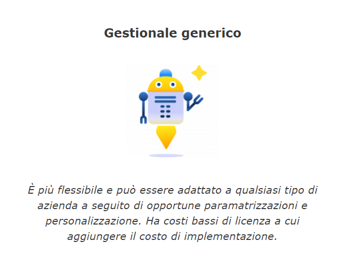 Gestionale flessibili