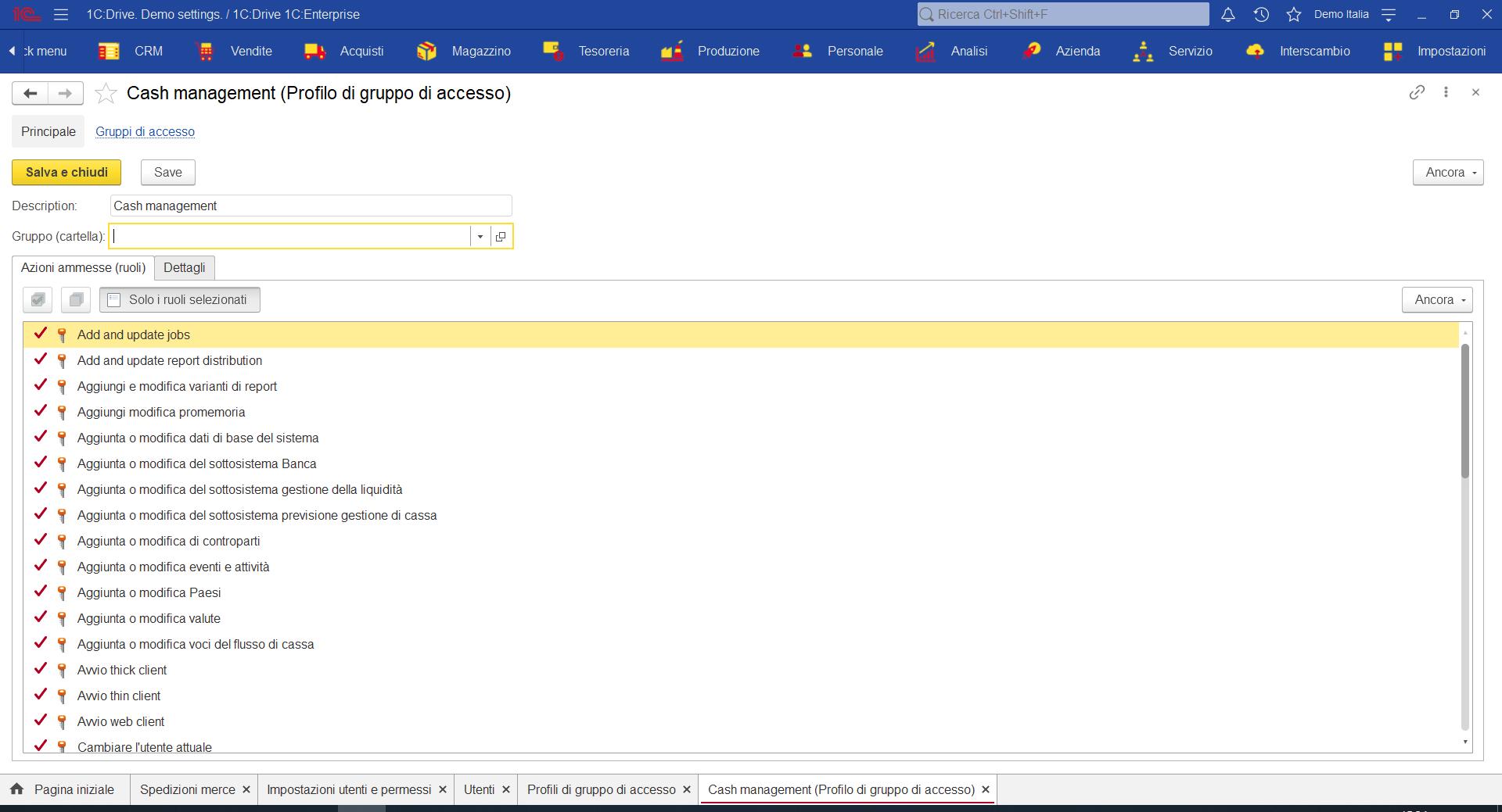 Profili di accesso